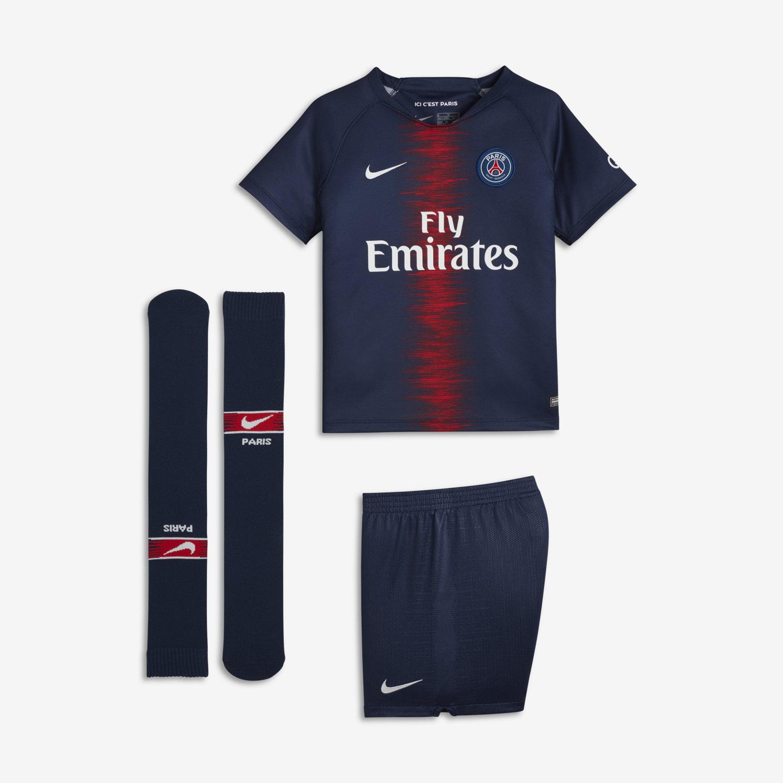 c79edf65fdd84 2018 19 Paris Saint-Germain Stadium Home Younger Kids  Football Kit ...