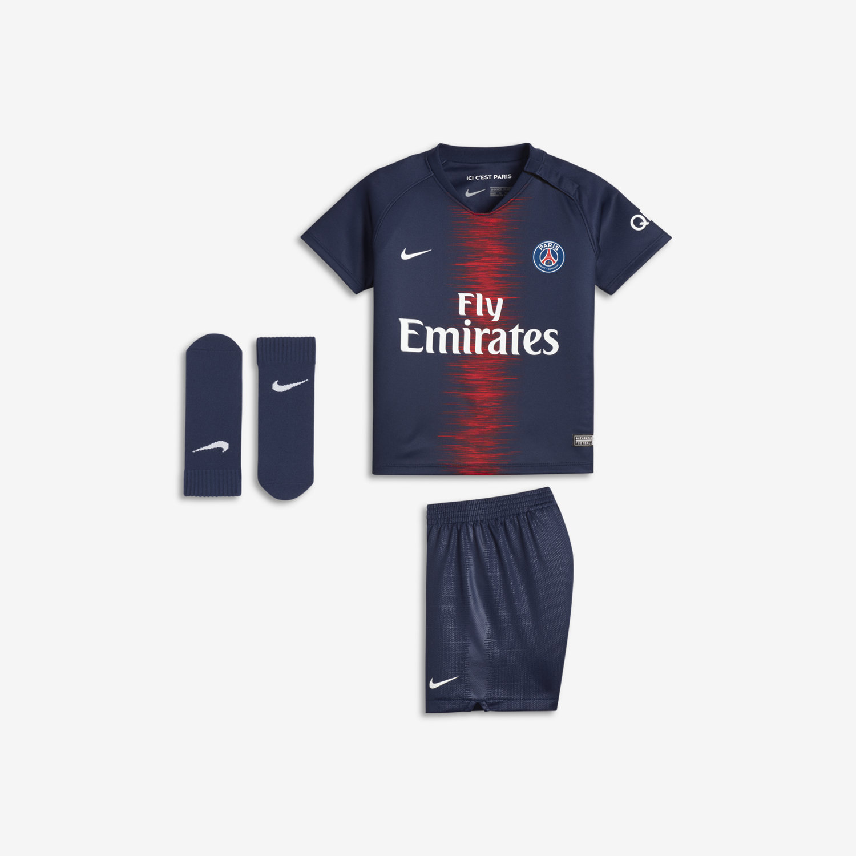 Tenue de football 2018 19 Paris Saint-Germain Stadium Home pour Bébé. Nike.com  FR 1af88382dcb