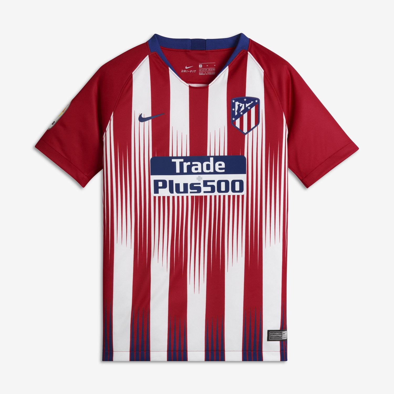 2018 19 Atlético de Madrid Stadium Home Camiseta de fútbol - Niño a.  Nike.com ES 1ea8bcc25f55f