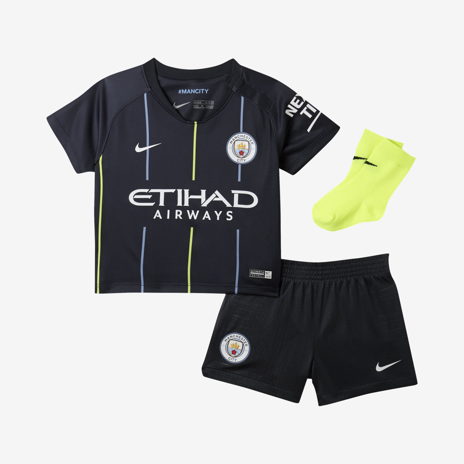95ccbfd1f 2018 19 Manchester City FC Stadium Away. Baby and Toddler Football Kit£27.47