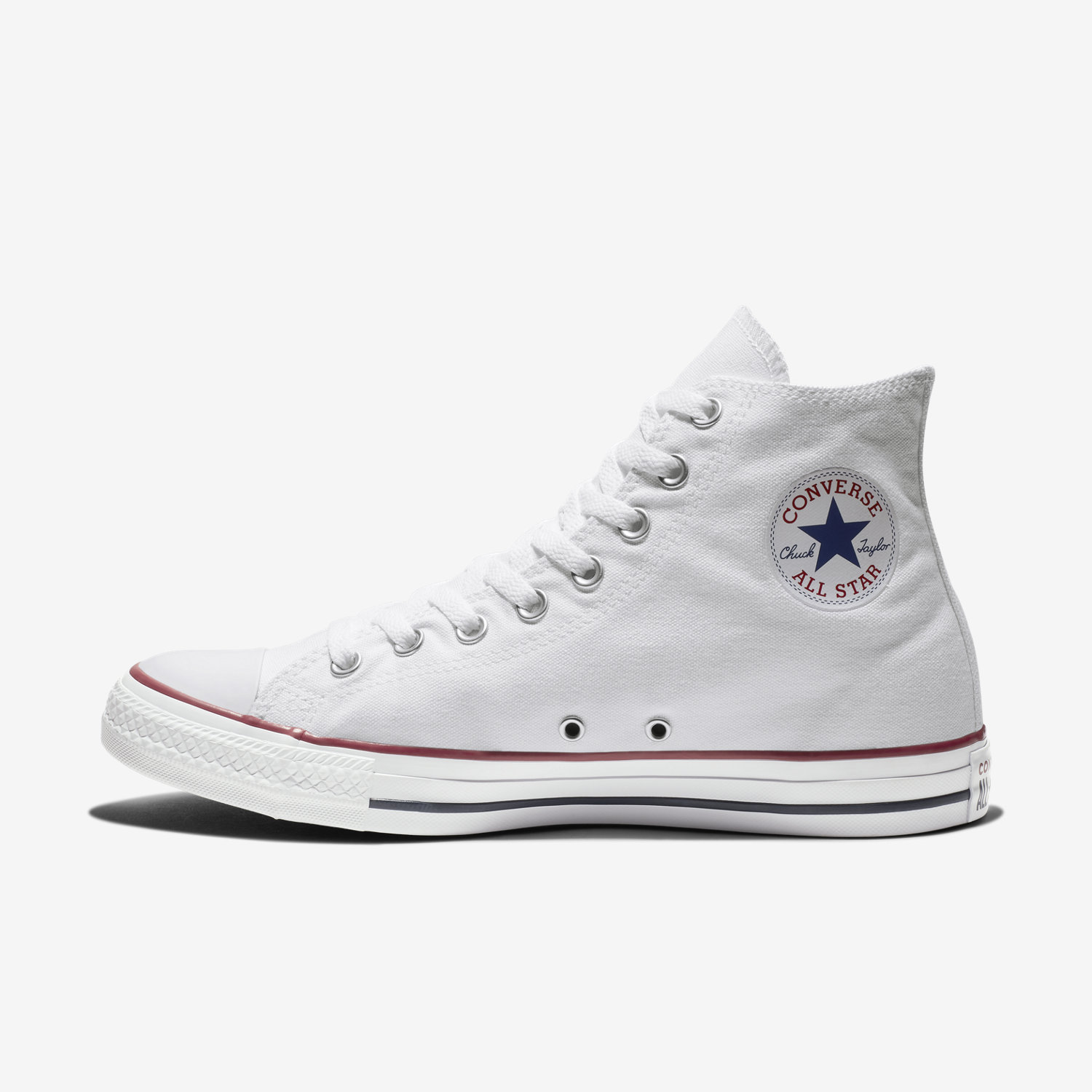 Converse Chuck Taylor All Star Hi Unisex Red White Scarpe da Ginnastica 9 UK