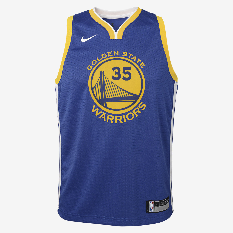 0508136db84055 Maglia Kevin Durant Golden State Warriors Nike Icon Edition Swingman NBA -  Ragazzi. Nike.com IT