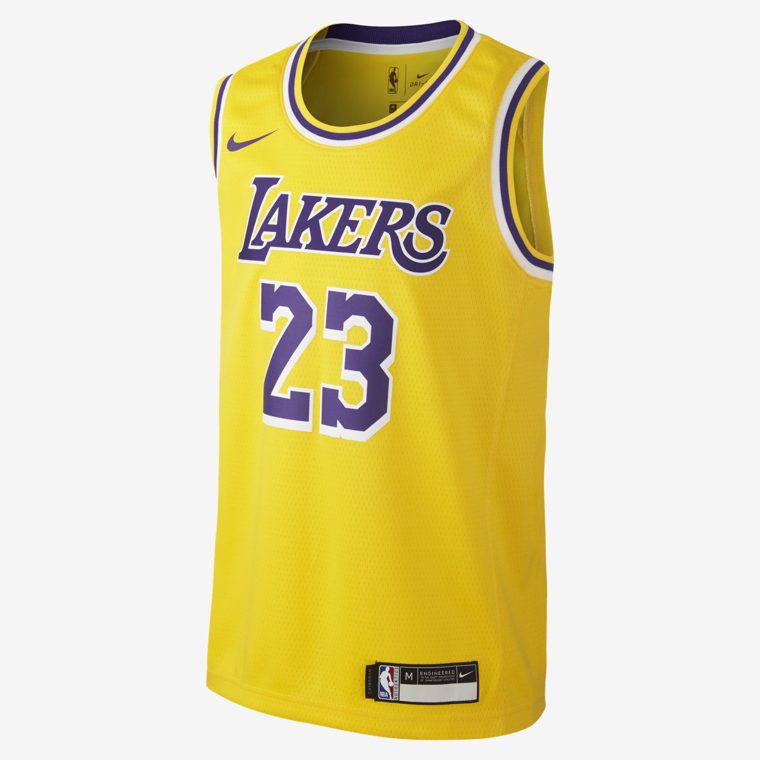 LeBron James Los Angeles Lakers Nike Icon Edition Swingman. Older Kids  NBA  Jersey 20e9ae082cf1