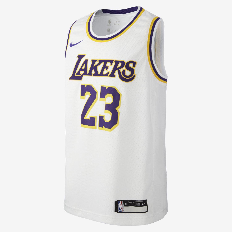 best website eea64 be9a9 NBA-jersey LeBron James Association Edition Swingman Jersey (Los Angeles  Lakers) för ungdom. Nike.com SE