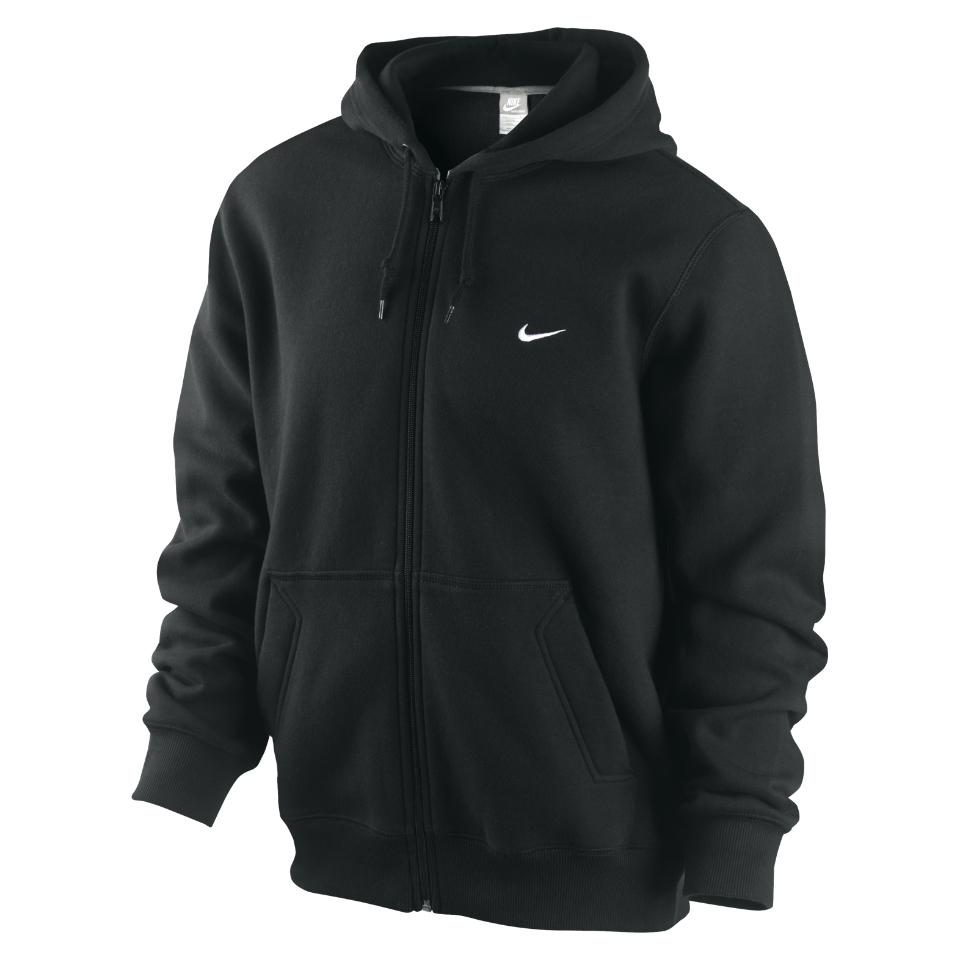 NWT Nike Classic Fleece Full Zip 2 Pockets Soft Jersey Cotton Men's Hoodie