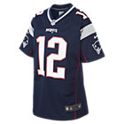 NFL New England Patriots Game Jersey (Tom Brady) American-Football-Trikot für ältere Kinder
