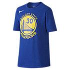 Tee-shirt de basketball Nike Icon NBA Warriors (Curry) pour Garçon plus âgé