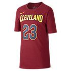 Tee-shirt de basketball Nike Icon NBA Cavaliers (James) pour Garçon plus âgé
