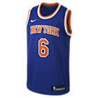 Kristaps Porziņģis New York Knicks Nike Icon Edition Swingman NBA-trøje til store børn