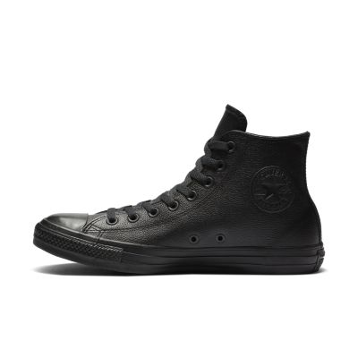 Converse All Star Black Leather Hi