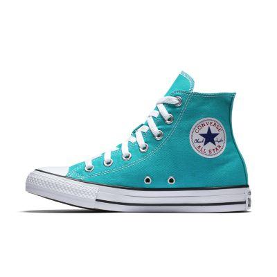 blue converse high tops womens