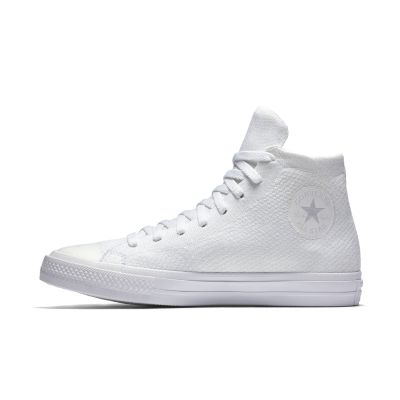 converse shoes all white. converse chuck taylor all star x nike flyknit high top unisex shoe. nike.com shoes white c