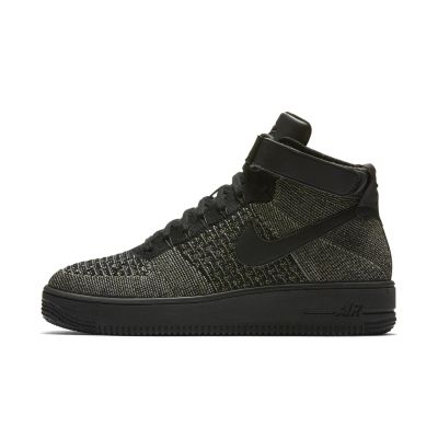nike air force one flyknit black