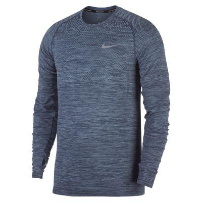 Nike Dri-FIT Knit Men's Long Sleeve Running Top. Nike.com