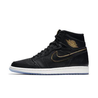 Mens Air Jordan Alpha 1 High Yellow Black shoes
