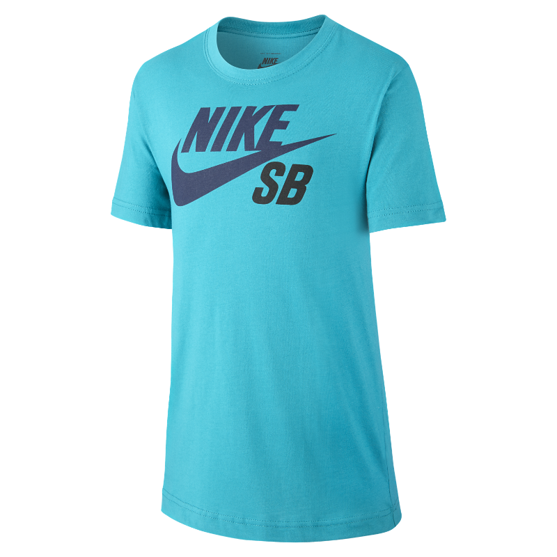 Nike SB Logo Older Kids'(Boys') T-Shirt - Blue Image