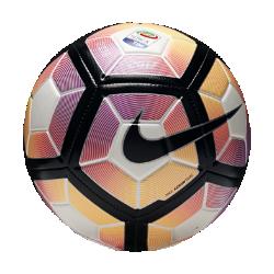 Футбольный мяч Nike Strike Serie A Tim&amp;#160;Футбольный мяч Nike Strike Serie A Tim обеспечивает превосходное касание и хорошо заметен на поле.ПреимуществаГрафика Visual Power упрощает слежение за мячомЖелобки Nike Aerowtrac и конструкция из 12 панелей для точной траектории полета мячаУсиленная бутиловая камера отлично сохраняет формуТекстурированное покрытие для превосходного касания и контроля мяча<br>