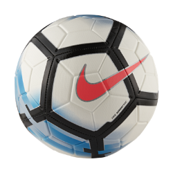 Футбольный мяч Nike StrikeФутбольный мяч Nike Strike с усиленной камерой и яркой контрастной графикой обеспечивает улучшенный контроль и хорошо заметен на поле.<br>