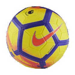 Футбольный мяч Nike Strike Premier LeagueФутбольный мяч Nike Strike Premier League с усиленной резиновой камерой и яркой контрастной графикой обеспечивает улучшенный контроль и хорошо заметен на поле.<br>
