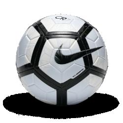 Футбольный мяч Nike Prestige CR7Футбольный мяч Nike Prestige CR7 отличается прочностью и легко заметен на поле, позволяя тебе играть до самого вечера.  Преимущества  Машинная строчка покрытия из материала TPU для исключительного сцепления и прочности Желобки Nike Aerowtrac и конструкция из 26 панелей для точной траектории полета мяча Усиленная камера отлично сохраняет форму и удерживает воздух Контрастная графика делает мяч заметнее  Информация о товаре  Двухлетняя гарантия на швы и сохранение формы Состав: 60% резина/15% полиуретан/13% полиэстер/12% EVA Импорт  CR7  С начала своей карьеры Криштиану Роналду одерживает победы на главных футбольных площадках мира. Он неоднократно признавался игроком года, и всего за десятилетиеиз подающего надежды он превратился в лучшего из лучших. Стремление к победе, взрывная скорость и поразительное умение забивать голы принесли ему успех и невероятное количество рекордов.<br>