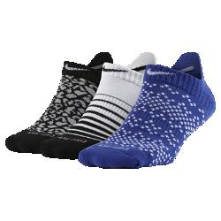 Носки Nike Dri-FIT Graphic No-Show Tab (3 пары)Носки Nike Dri-FIT Graphic No-Show Tab из влагоотводящей ткани обеспечивает длительный комфорт. Петелька на пятке позволяет быстро снимать и надевать носки.<br>