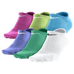 Носки для школьников Nike Dri-FIT No Show (средний размер/6 пар)Носки для школьников Nike Dri-FIT No Show (средний размер/6 пар) из очень мягкой функциональной ткани эффективно отводят влагу и идеально подходят для тренировок и игр.<br>