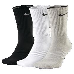 Носки Nike Cotton Cushion Crew (3 пары)Носки Nike Cotton Cushion Crew (3 пары) из влагоотводящей ткани, обеспечивающей воздухопроницаемость и комфорт, плотно облегают свод стопы, создавая дополнительную поддержку.<br>
