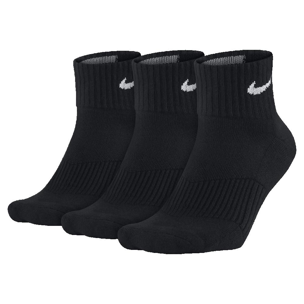 <ナイキ(NIKE)公式ストア> ナイキ コットン クッション クォーター ソックス (3足) SX4703-001 ブラック ★30日間返品無料 / Nike+メンバー送料無料