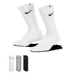 Носки для школьников Nike Performance Crew (3 пары)Носки для школьников Nike Performance Crew (3 пары) обеспечивают комфорт и надежную посадку благодаря компрессионной поддержке свода стопы и влагоотводящей смесовой ткани.<br>