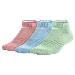 Носки для школьников Nike Lightweight Cushion No-Show (3 пары)Носки для школьников Nike Lightweight Cushion No-Show (3 пары) из влагоотводящей ткани с компрессионной поддержкой свода стопы обеспечивают надежную посадку.<br>