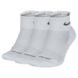 Носки для тренировок Nike Dri-FIT Half-Cushion Quarter (3 пары)Носки для тренинга Nike Dri-FIT Half-Cushion Quarter (3 пары) со вставками из сетки и плотным прилеганием в области свода стопы обеспечивают воздухопроницаемость и удобную посадкуво время тренировок или соревнований.<br>