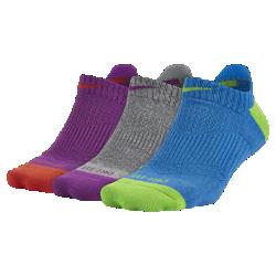 Спортивные носки Nike Dri-FIT Cushion No-Show Tab (3 пары)Спортивные носки Nike Dri-FIT Cushion No-Show Tab (3 пары) из влагоотводящей ткани с зонами особой защиты от ударных нагрузок и низкой посадкой обеспечивают комфорт.<br>