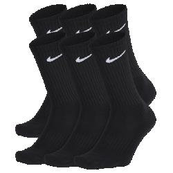 Носки до середины голени Nike Cushioned (6 пар)Носки до середины голени Nike Cushioned (6 пар) из мягкой смесовой ткани на основе хлопка с зональной амортизацией и поддержкой свода стопы обеспечивают плотную удобную посадку.<br>