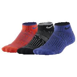 Носки для школьников Nike Graphic Lightweight Cushioned Low Cut (3 пары)Носки для школьников Nike Graphic Lightweight Cushioned Low Cut из первоклассного смесового хлопка обеспечивают комфорт и поддержку свода стопы.<br>
