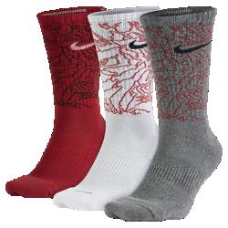 Носки до середины голени для тренинга Nike Dri-FIT Topo Camo (3 пары)Носки до середины голени для тренинга Nike Dri-FIT Topo Camo из мягкой влагоотводящей ткани обеспечивают поддержку свода стопы, прочность и плотную посадку.<br>