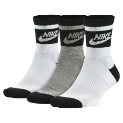 Носки Nike Sportswear Striped Low Quarter (3 пары)Носки до середины голени Nike Sportswear Striped Low Quarter обеспечивают длительный комфорт благодаря поддержке свода стопы и усиленной конструкции.<br>