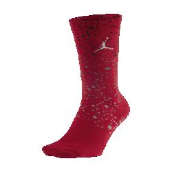 Носки до середины голени Jordan SpeckleНоски до середины голени Jordan Speckle из прочной смесовой ткани на основе хлопка со светоотражающими крапинками по всей поверхности обеспечивают комфорт на каждый день.<br>