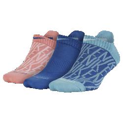 Носки для тренинга Nike Dry Graphic No-Show (3 пары)Носки для тренинга Nike Dri-FIT Cushion Graphic No-Show из эластичной влагоотводящей ткани обеспечивают длительный комфорт. Петелька на пятке позволяет быстро снимать и надеватьноски.<br>