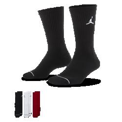 <ナイキ(NIKE)公式ストア>ジョーダン ジャンプマン クルー バスケットボールソックス (3足) SX5545-011 その他 ★30日間返品無料 / Nike+メンバー送料無料!画像