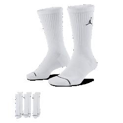 <ナイキ(NIKE)公式ストア>ジョーダン ジャンプマン クルー バスケットボールソックス (3足) SX5545-100 ホワイト画像