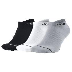 Носки Jordan Jumpman No Show (3 пары)Носки Jordan Jumpman No Show с фирменными деталями на мягкой смесовой ткани и с системой поддержки свода стопы обеспечивают комфорт на весь день.<br>