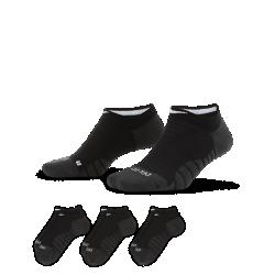 Носки для тренинга Nike Dry Cushion No-Show (3 пары)Носки для тренинга Nike Dry Cushion No-Show из влагоотводящей ткани обеспечивают комфорт во время тренировки.<br>