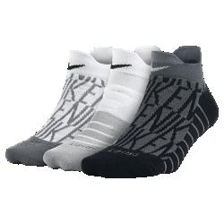 Носки для тренинга Nike Graphic Cushion Low (3 пары)Носки для тренинга Nike Graphic Cushion Low из влагоотводящей ткани с зональной амортизацией обеспечивают комфорт во время тренировки.<br>