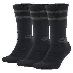 <ナイキ(NIKE)公式ストア>ナイキ SB ドライ クルー スケートボードソックス (3足) SX5760-010 ブラック 30日間返品無料 / Nike+メンバー送料無料画像