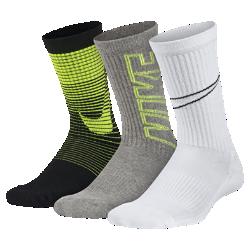 Носки для школьников Nike Performance Cushion Crew (3 пары)Носки для школьников Nike Performance Cushion Crew из мягкого и эластичного смесового хлопка обеспечивают комфорт и плотную посадку.<br>