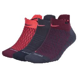 Носки для тренинга Nike Dry Cushion Low (3 пары)Благодаря амортизации в ключевых зонах женские носки для тренинга Nike Dry Cushion Low обеспечивают абсолютную защиту от ударных нагрузок на всей дистанции.<br>