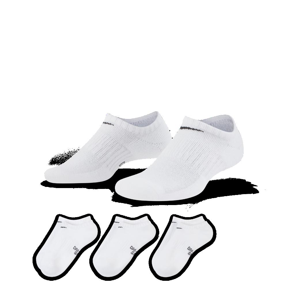 <ナイキ(NIKE)公式ストア> ナイキ パフォーマンス クッションド ノーショウ キッズ トレーニングソックス (3足) SX6843-100 ホワイト ★30日間返品無料 / Nike+メンバー送料無料