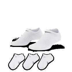 <ナイキ(NIKE)公式ストア>ナイキ パフォーマンス クッションド ノーショウ キッズ トレーニングソックス (3足) SX6843-100 ホワイト画像