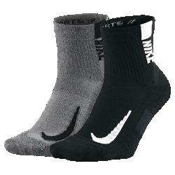 <ナイキ(NIKE)公式ストア>ナイキ マルチプライヤー アンクル ソックス (2足) SX7556-916 ブラック★30日間返品無料 / Nike+メンバー送料無料!画像
