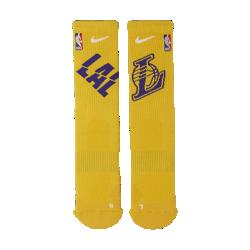 <ナイキ(NIKE)公式ストア>ロサンゼルス レイカーズ ナイキ エリート NBA クルー ソックス SX7603-728 イエロー 30日間返品無料 / Nike+メンバー送料無料画像
